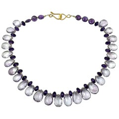 Sparking Amethyst Cocktail  Necklace