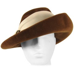 Vintage 1970s Large Felt Wide Brim Hat