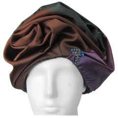 Vintage 1960s Multi Colored Ombre Turban Hat