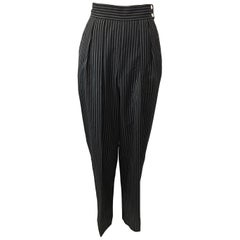 1990s Perry Ellis High Waisted Pin Striped Slacks