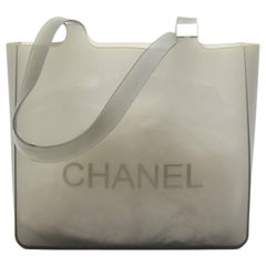 Chanel Gray Jelly Rubber Shoulder Tote Bag