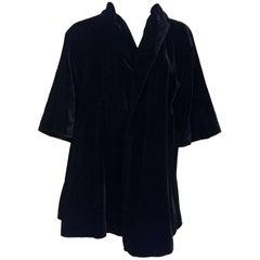 Lilli Diamond Black Velvet Jacket, 1950s