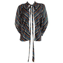 1960's ALICE POLLOCK striped jacket with necktie