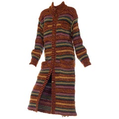 Missoni wool long sweater coat