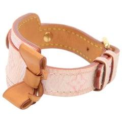 Louis Vuitton Porte Adresse Pink Monogram Canvas Bracelet