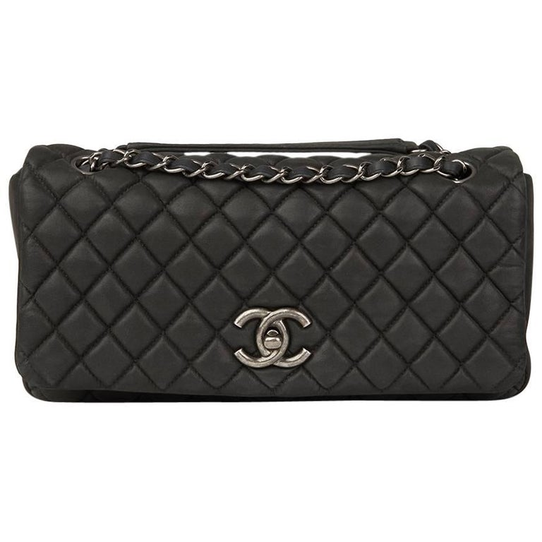 82f12d800fd 2013 Chanel Dark Grey Bubble Quilted Velvet Calfskin Small Bubble Flap Bag  For Sale.
