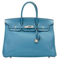 2011 Hermes Blue Jean Togo Leather Birkin 35cm