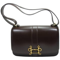Absoluty Collectible Hermés Vintage Brown Box Calf Sologne 23 cm Shoulder Bag