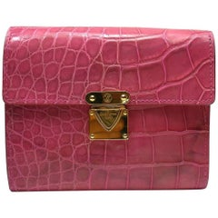 Louis Vuitton Alligator Koala Wallet Pink RTP $3790 / Good Deal