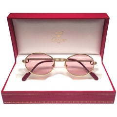 Cartier Oval St Honore Limited Series Ruby 49mm 18k Plated Sunglasses France