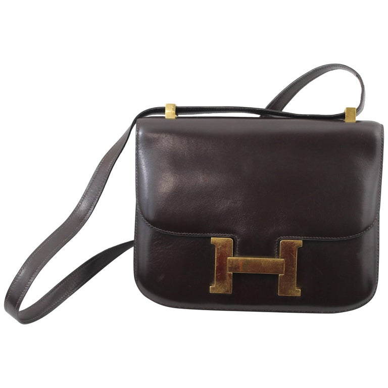 Vintage 1972 Dark Brown Hermes Constance 23 Bag