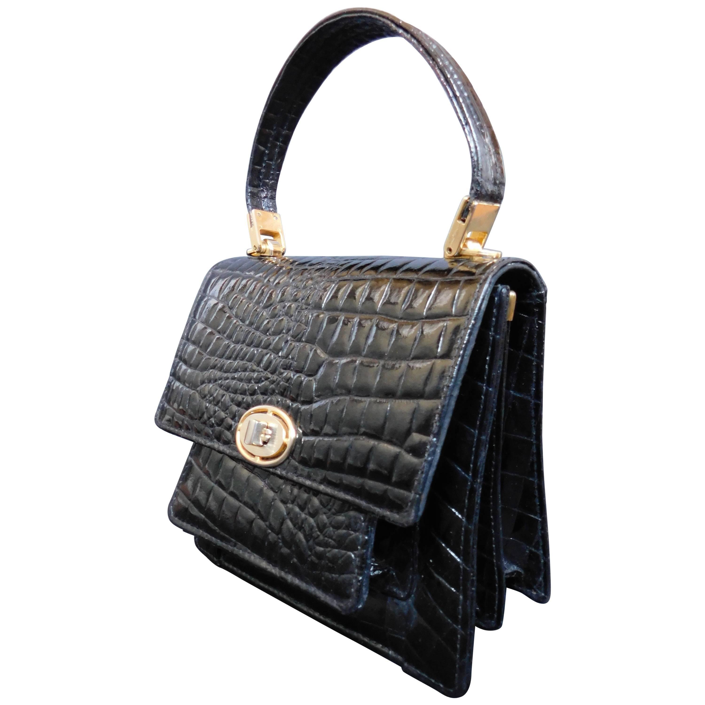 1stdibs Patent Leather Stamped Vintage Handbag With Gold Hardware oefBrJKCC