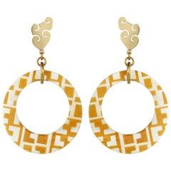 Fouché Dangle Hoop Horn Africa Earrings