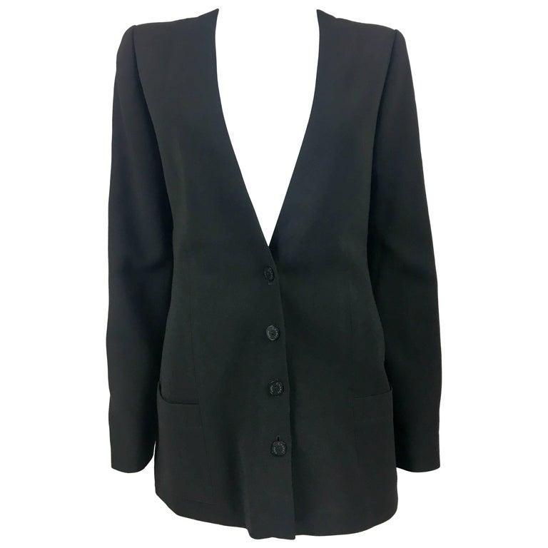Chanel Black Light Wool Jacket, 2003