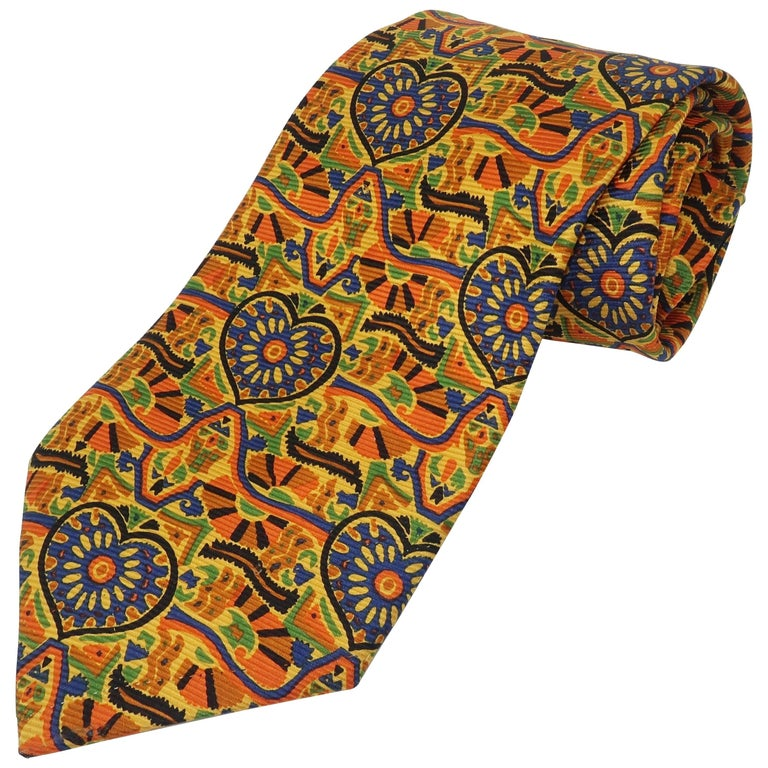 Vintage Christian Lacroix Men's Silk Necktie For Sale