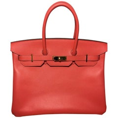 Hermes Birkin 35 Jaipur in Epson leather Invoece , Sustbag and Box
