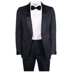 Tom Ford Black Wool Blend Satin Shawl Lapel O'Connor Tuxedo