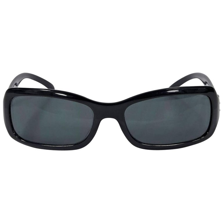 Black Chanel Small Rectangular Sunglasses