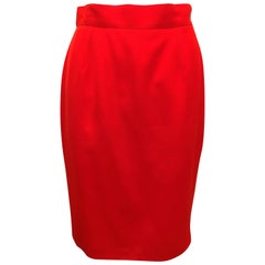 Thierry Mugler Red Suit Skirt