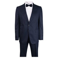 Tom Ford Men's Navy 100% Cotton Shelton Two Piece Suit