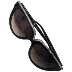 Valentino Black Rhinestone Sunglasses