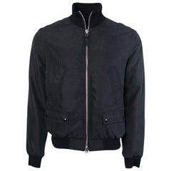 Tom Ford Mens Black Satin Twill Light Fill Blouson Sport Jacket
