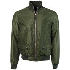 Tom Ford Mens Green Satin Twill Light Fill Blouson Sport Jacket