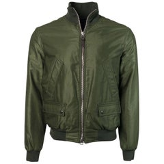Tom Ford Mens Green Satin Twill Light Fill Blouson Sport Jacket
