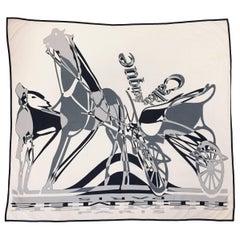 Hermès Caleche Elastique Ivory Silk Jersey Carre by Bali Barret 2009