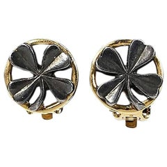 Chanel Clover Clip-On Earrings