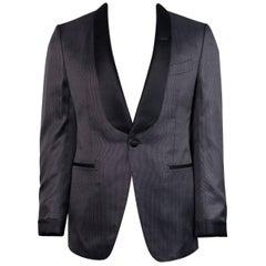 Tom Ford 100% Silk Black Diamond Jacquard O'Connor Evening Jacket