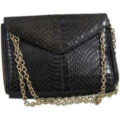 Christian Dior Vintage Snake Clutch / shoulder bag with golden hardware