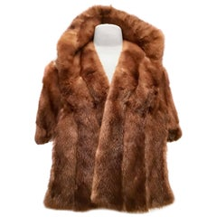 1950'S Mink Whyskey Dyed Mink Fur Capelet Jacket By, Lloyds Fur-Denver
