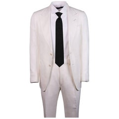 Tom Ford Men's Ivory Shelton Base Two Piece Suit Size