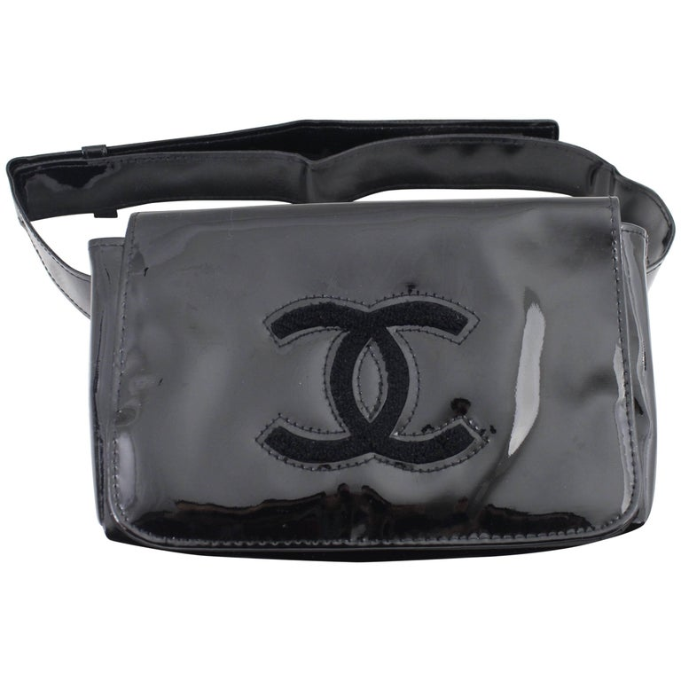 Chanel Patented VIP Gift Leather Belt Bag at 1stdibs