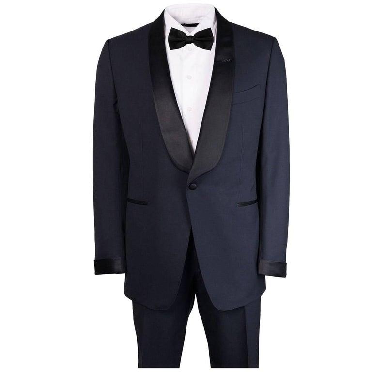 Tom Ford Navy Wool Satin Shawl Lapel O'Connor Tuxedo