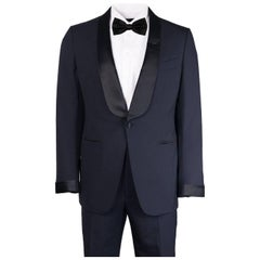Tom Ford Navy Wool Satin Shawl Lapel O'Connor Two Piece Tuxedo