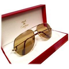 New Cartier Ultra Rare Vendome 18K 750 Gold Filled Sunglasses Made in France