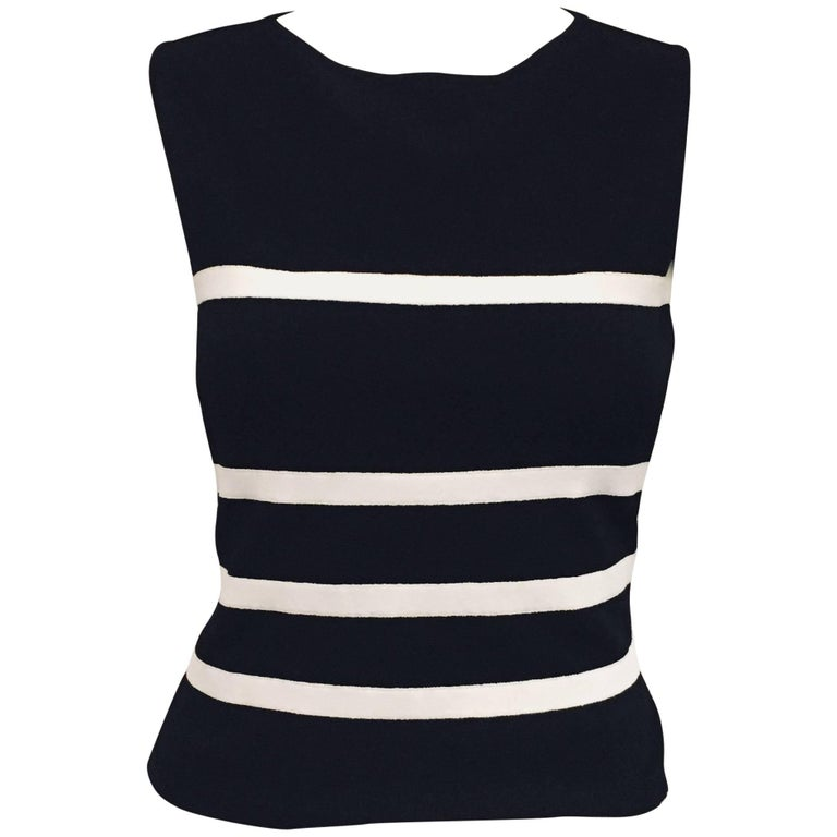 Masterful Moschino Black & White Backless Top