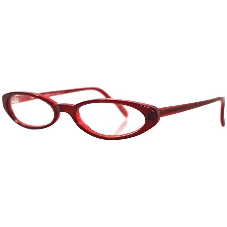 Jean Lafton Red Prescription Eyeglasses with Case