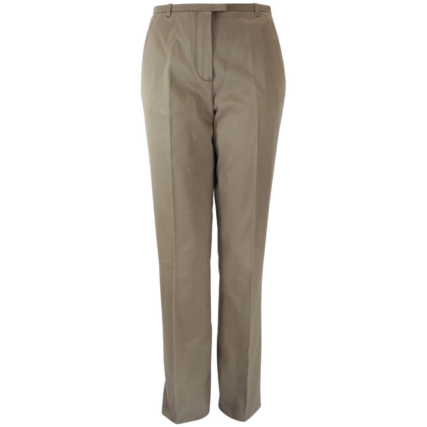 Hermes Classic Cotton Khaki Pants Slacks