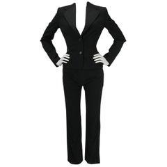 Dolce & Gabbana Black Tuxedo Dinner Pantsuit Ensemble