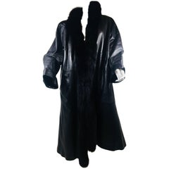 Leather Coat with Fur Lining