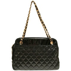 Chanel Patent Leather Lamb Skin Bag / Purse