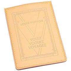 Louis Vuitton Volez Voguez Voyagez Vachetta Leather Card Case