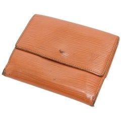 Louis Vuitton Elise Cipango Gold Epi Leather Bifold Wallet