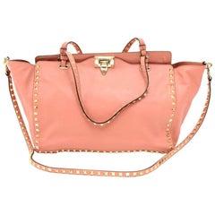 Valentino Pink Rockstud Medium Tote Bag