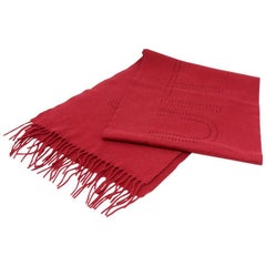 Louis Vuitton Red Perforated Cashmere Scarf