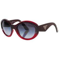 Prada Red Ombre Resin Sunglasses with Case