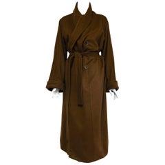 Magnificent Marina Rinaldi Mocha Cashmere Blend Belted Swing Coat